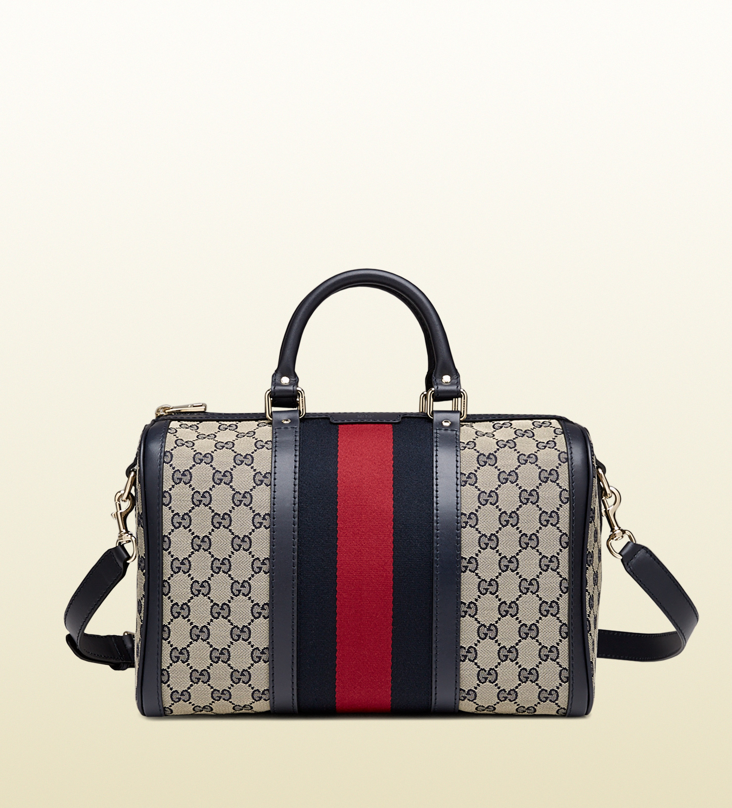 9e2987b4b1630e Gucci Vintage Web Boston Bag Replica | Stanford Center for ...