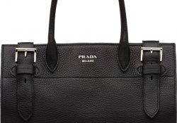 Prada-Buckle-Leather-Tote